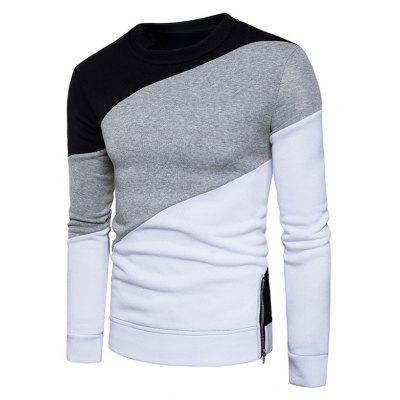 Color Block Panel Fleeve Pullover SweatshirtMens Hoodies &amp; Sweatshirts<br>Color Block Panel Fleeve Pullover Sweatshirt<br><br>Material: Cotton, Polyester<br>Package Contents: 1 x Sweatshirt<br>Shirt Length: Regular<br>Sleeve Length: Full<br>Style: Fashion<br>Weight: 0.3700kg