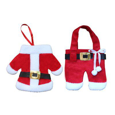 2PCS Christmas Clothes and Trousers Shape Knife And Fork BagsChristmas Supplies<br>2PCS Christmas Clothes and Trousers Shape Knife And Fork Bags<br><br>Event &amp; Party Item Type: Party Decoration<br>Material: Non-woven<br>Occasion: Christmas<br>Package Contents: 2 x Tableware Bags<br>Weight: 0.0500kg