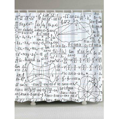 Mathematical Function Printed Shower Curtain
