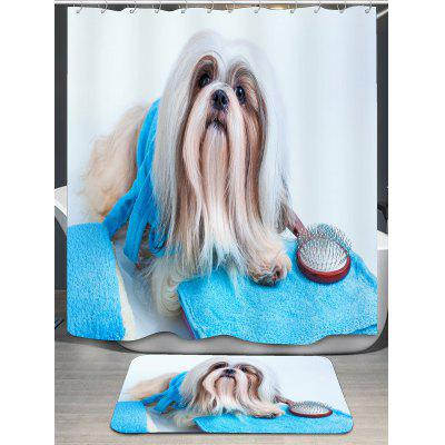 Animal Dog Pattern Bath Decor Shower CurtainShower Curtain<br>Animal Dog Pattern Bath Decor Shower Curtain<br><br>Materials: Polyester<br>Number of Hook Holes: W59 inch * L71 inch:10, W71 inch * L71 inch:12, W71 inch * L79 inch:12<br>Package Contents: 1 x Shower Curtain 1 x Hooks (Set)<br>Pattern: Animal<br>Products Type: Shower Curtains<br>Style: Fashion