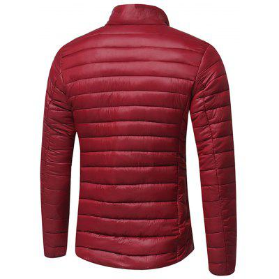 Stand Collar Zip Up Lightweight Down JacketMens Jackets &amp; Coats<br>Stand Collar Zip Up Lightweight Down Jacket<br><br>Closure Type: Zipper<br>Clothes Type: Padded<br>Collar: Stand Collar<br>Material: Down, Polyester<br>Occasion: Holiday, Going Out, Daily Use, Casual<br>Package Contents: 1 x Jacket<br>Season: Winter<br>Shirt Length: Regular<br>Sleeve Length: Long Sleeves<br>Style: Streetwear, Fashion, Casual<br>Weight: 0.6900kg