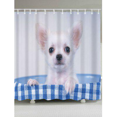 Bath Dog Patterned Shower Curtain