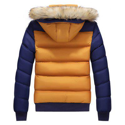 Detachable Hood Color Block Padded JacketMens Jackets &amp; Coats<br>Detachable Hood Color Block Padded Jacket<br><br>Closure Type: Zipper<br>Clothes Type: Padded<br>Collar: Hooded<br>Material: Down, Faux Fur, Polyester<br>Occasion: Going Out, Casual<br>Package Contents: 1 x Jacket<br>Season: Winter<br>Shirt Length: Regular<br>Sleeve Length: Long Sleeves<br>Style: Casual<br>Weight: 1.0000kg