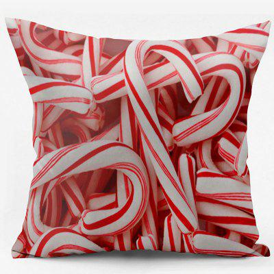 Candy Canes Double Sided Printed Christmas Decorative Pillowcase