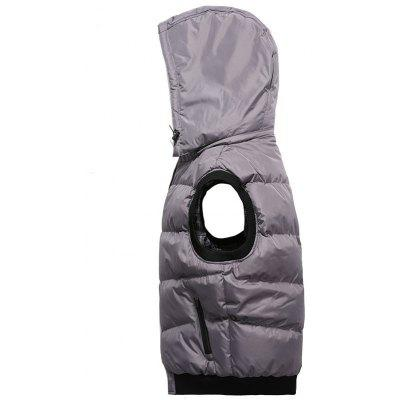 Zip Up Detachable Hood Padded VestWaistcoats<br>Zip Up Detachable Hood Padded Vest<br><br>Closure Type: Zipper<br>Collar: Hooded<br>Material: Polyester<br>Package Contents: 1 x Vest<br>Shirt Length: Regular<br>Style: Casual<br>Thickness: Thick<br>Weight: 0.7500kg