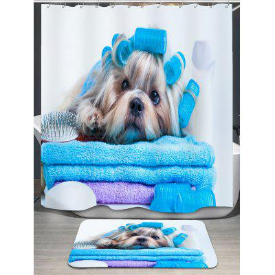 Bathing Dog Pattern Shower CurtainShower Curtain<br>Bathing Dog Pattern Shower Curtain<br><br>Materials: Polyester<br>Number of Hook Holes: W59 inch * L71 inch:10, W71 inch * L71 inch:12, W71 inch * L79 inch:12<br>Package Contents: 1 x Shower Curtain 1 x Hooks (Set)<br>Pattern: Animal<br>Products Type: Shower Curtains<br>Style: Fashion