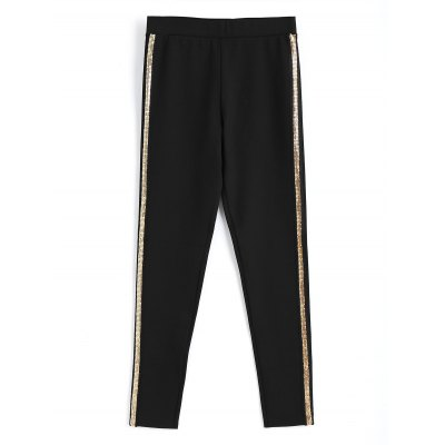 Sequined Skinny Pencil Pants