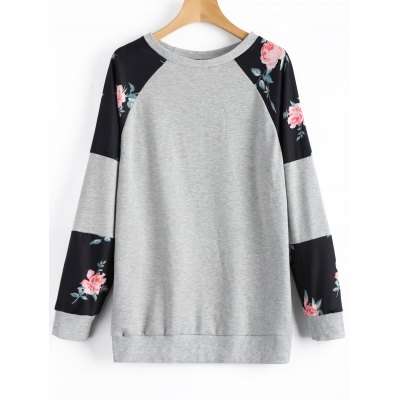 Sweat-shirt Ras du Cou Tunique Floral