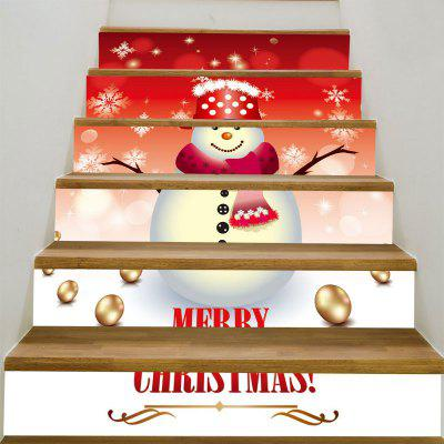 Snowman Printed Removable Decorative Stair Stickers