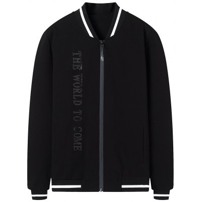 Buy Graphic Mens Bomber Jacket BLACK 3XL for $52.74 in GearBest store