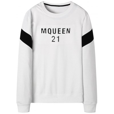 Letter Two Tone Mens Sweatshirt