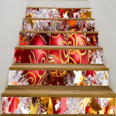 Christmas Balls Printed Decorative Stair Stickers