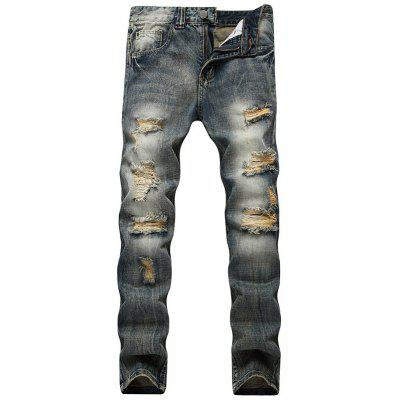 Jeans Vintage Distressed avec jambe droite
