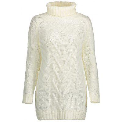 Turtleneck Tunic Knitted Sweater