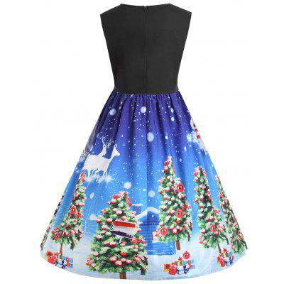 Christmas Tree Lace Panel Vintage Plus Size DressPlus Size Dresses<br>Christmas Tree Lace Panel Vintage Plus Size Dress<br><br>Dresses Length: Knee-Length<br>Embellishment: Lace<br>Material: Polyester<br>Neckline: Round Collar<br>Package Contents: 1 x Dress<br>Pattern Type: Plant, Animal<br>Season: Fall, Winter<br>Silhouette: A-Line<br>Sleeve Length: Sleeveless<br>Style: Vintage<br>Weight: 0.2800kg<br>With Belt: No