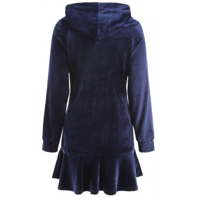 Letter Patched Hooded Velvet DressWomens Dresses<br>Letter Patched Hooded Velvet Dress<br><br>Dresses Length: Mini<br>Material: Polyester<br>Neckline: Hooded<br>Occasion: Causal, Going Out<br>Package Contents: 1 x Dress<br>Pattern Type: Letter<br>Season: Spring<br>Silhouette: Trumpet/Mermaid<br>Sleeve Length: Long Sleeves<br>Style: Casual<br>Weight: 0.5700kg<br>With Belt: No