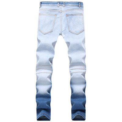 Skinny Hook Button Ombre Biker JeansMens Pants<br>Skinny Hook Button Ombre Biker Jeans<br><br>Closure Type: Zipper Fly<br>Fit Type: Regular<br>Material: Cotton, Polyester, Spandex<br>Package Contents: 1 x Jeans<br>Pant Length: Long Pants<br>Pant Style: Pencil Pants<br>Waist Type: Mid<br>Wash: Light<br>Weight: 0.7100kg<br>With Belt: No