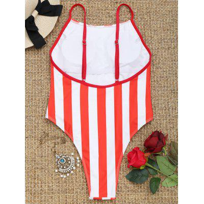 One Piece High Cut Striped SwimwearLingerie &amp; Shapewear<br>One Piece High Cut Striped Swimwear<br><br>Bra Style: Padded<br>Elasticity: Elastic<br>Gender: For Women<br>Material: Chinlon<br>Neckline: Spaghetti Straps<br>Package Contents: 1 x Swimwear<br>Pattern Type: Striped<br>Support Type: Wire Free<br>Swimwear Type: One Piece<br>Waist: Natural<br>Weight: 0.2100kg