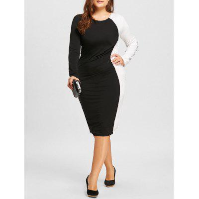 Plus Size Two Tone Bodycon Dress