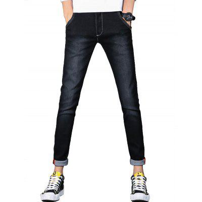 Slim Fit Zip Fly Stretch Jeans