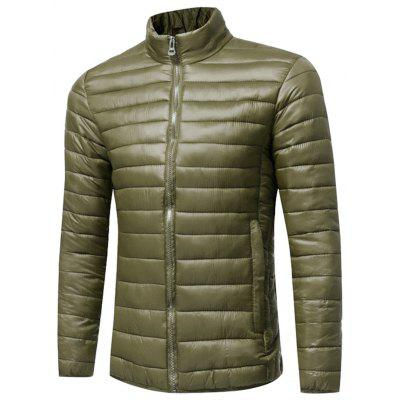 Stand Collar Zip Up Lightweight Down Jacket
