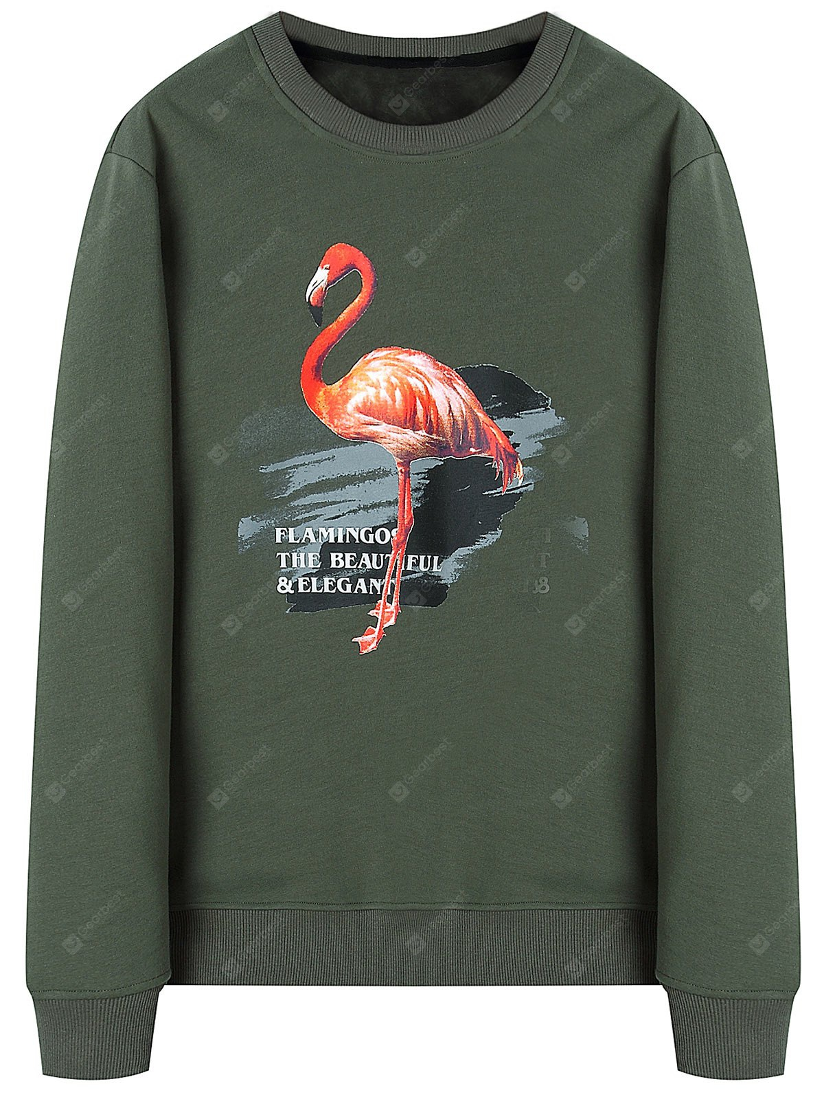 Woolen Lining Mens Flamingo Sweatshirt