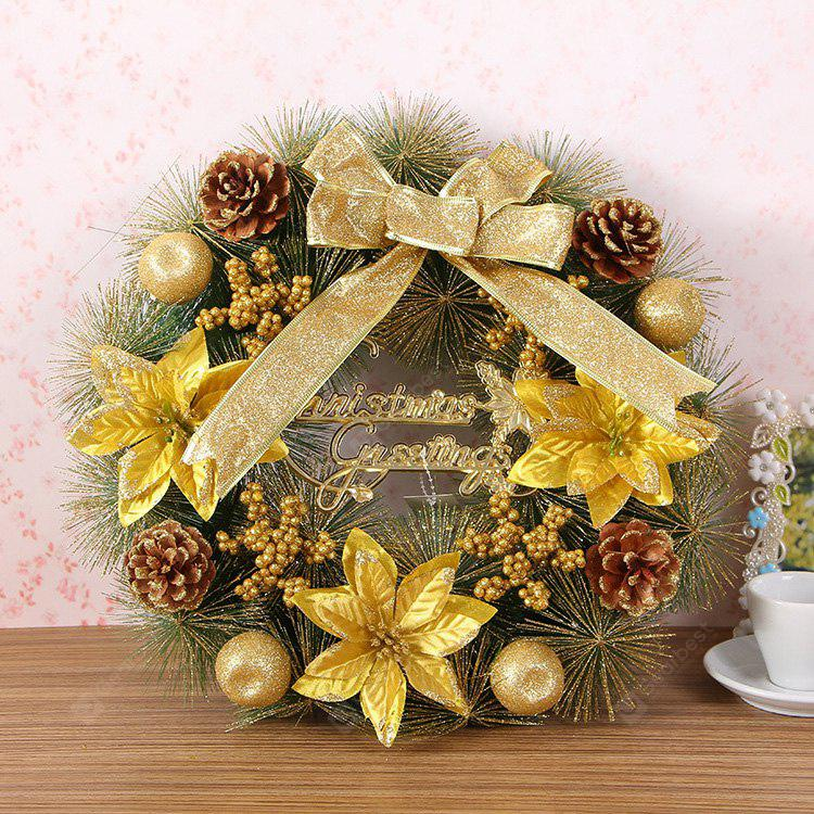 Home Decorations 40CM Floral Bowknot Christmas Wreath
