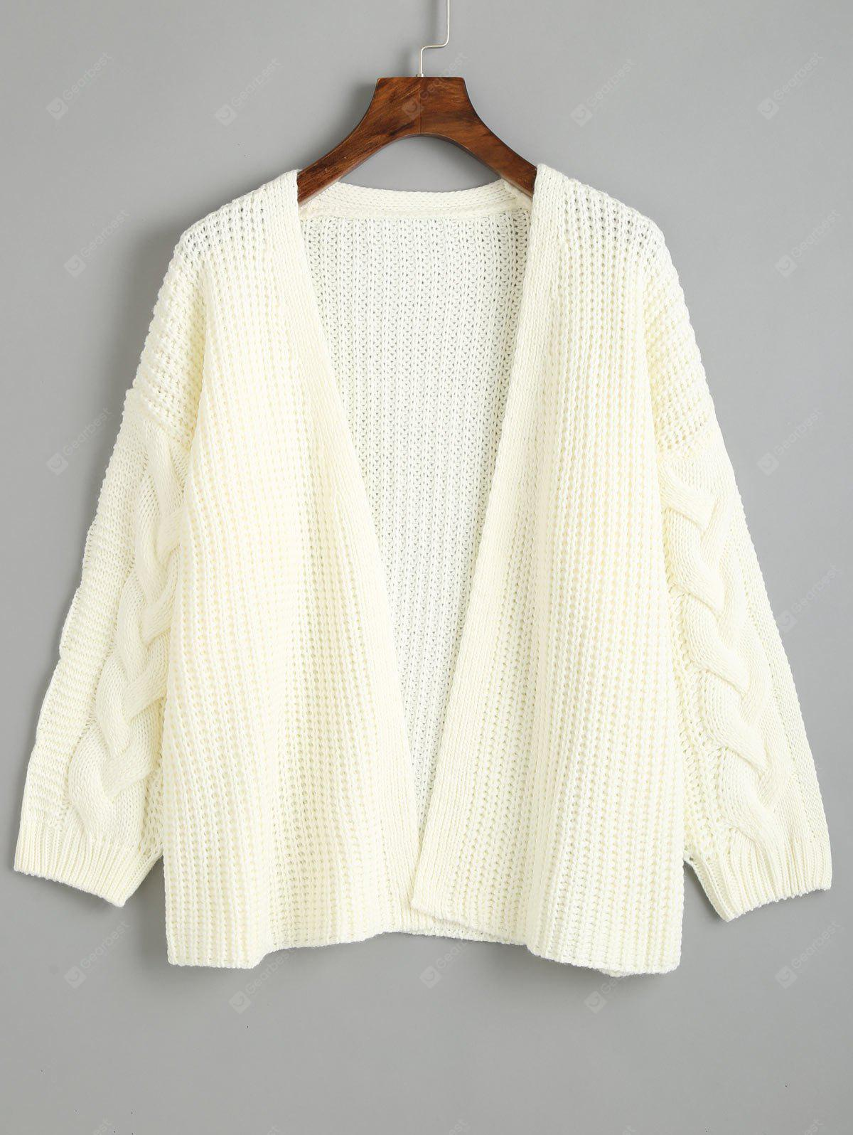 Dropped Shoulder Chunky Knitted Cardigan