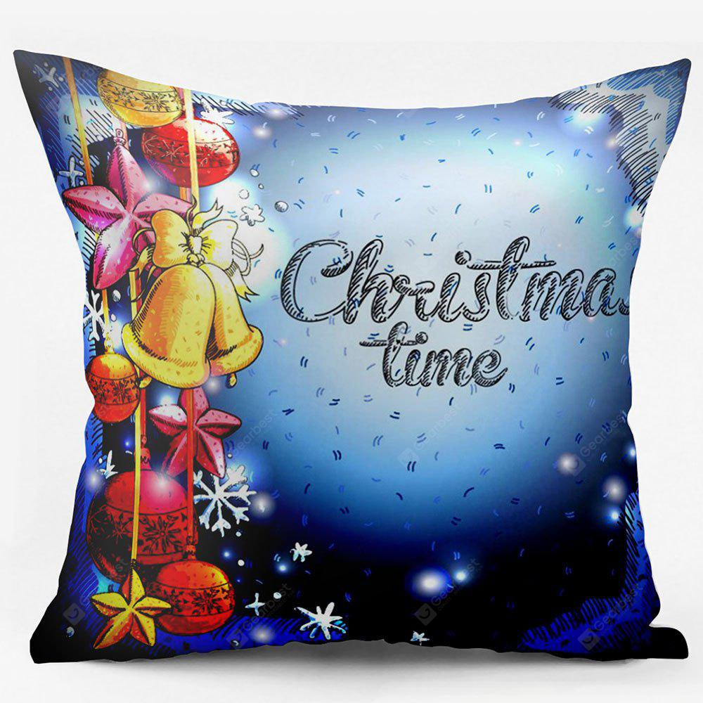 Christmas Ornaments Double Sided Printed Throw Pillowcase