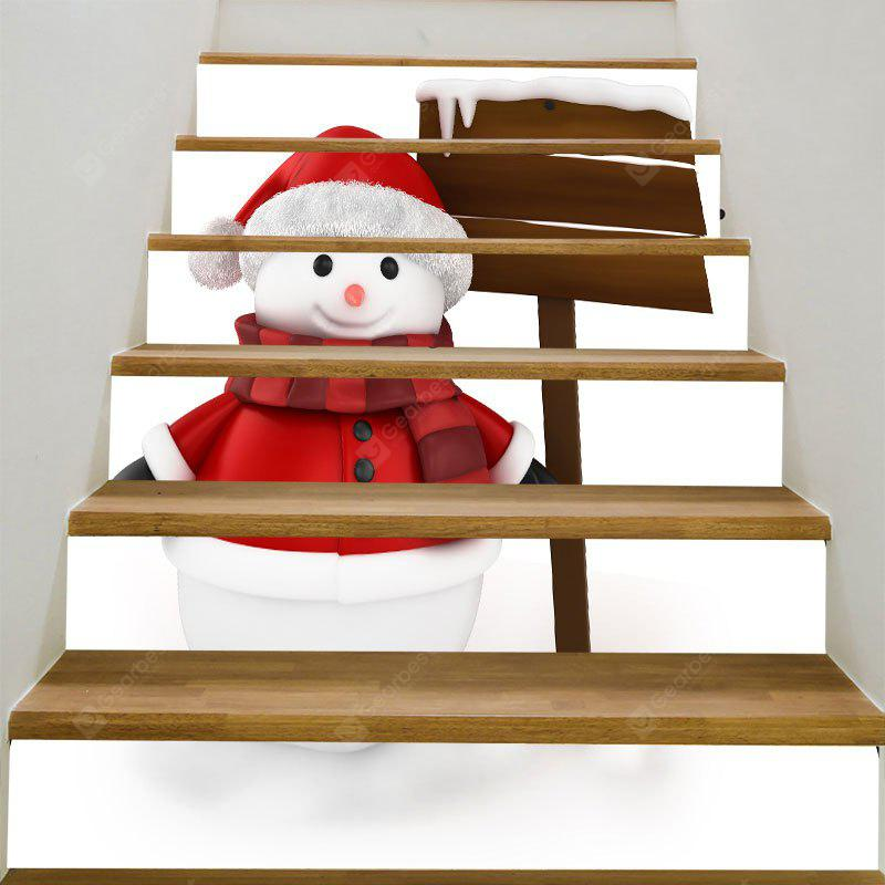 DIY Lovely Christmas Snowman Pattern Decorative Stair Stickers
