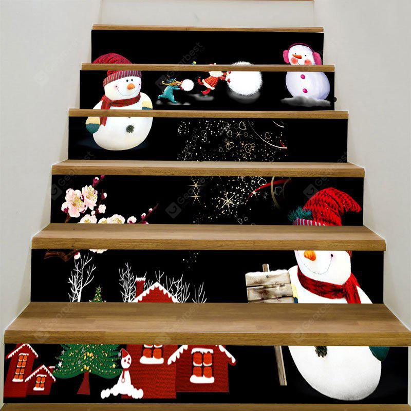 Removable Christmas Snowmen DIY Stair Stickers