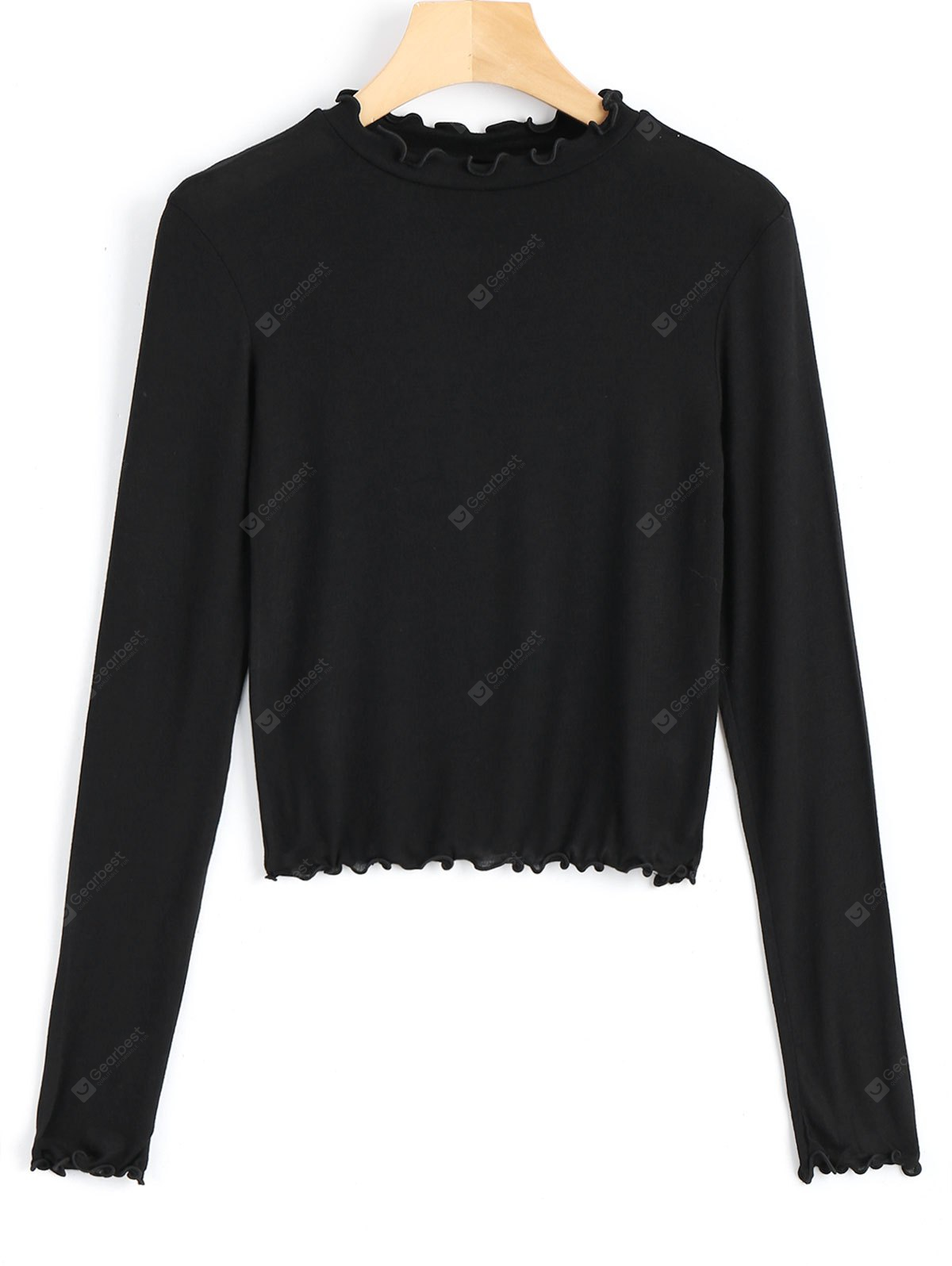 Piped Layering Long Sleeve Top
