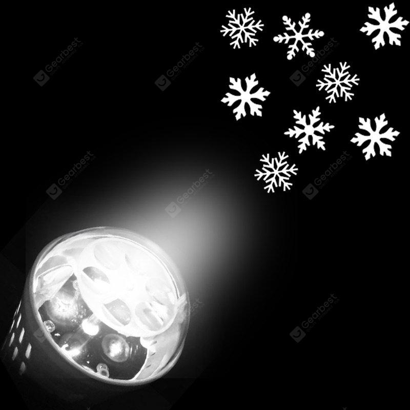 Christmas Snowflakes Pattern Party Decor Projector Light Bulb