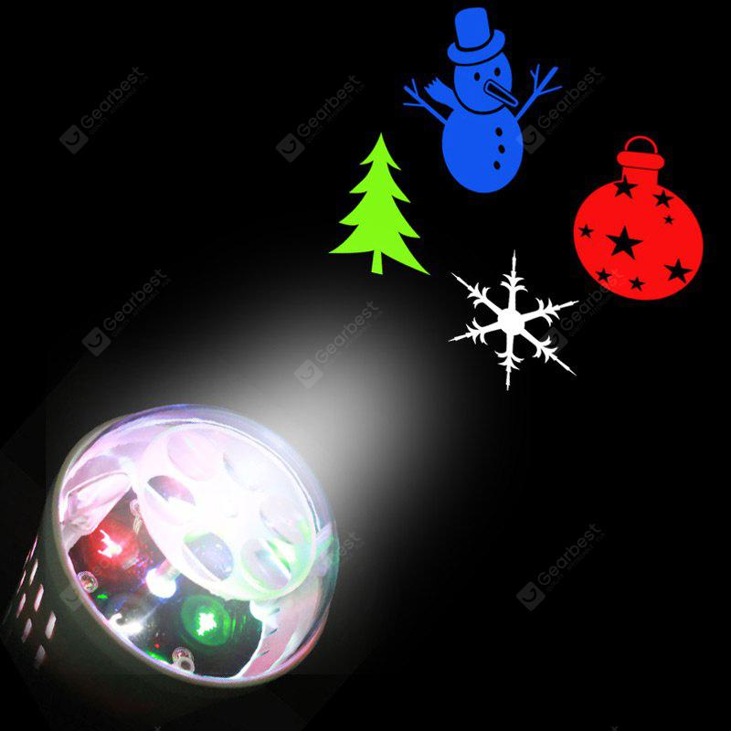 Christmas Tree Snowman Baubles Pattern Party Decor Projector Light Bulb