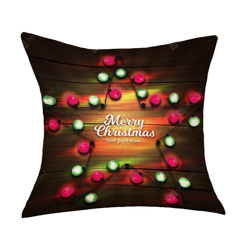 Christmas Star Lights Print Decorative Sofa Pillowcase