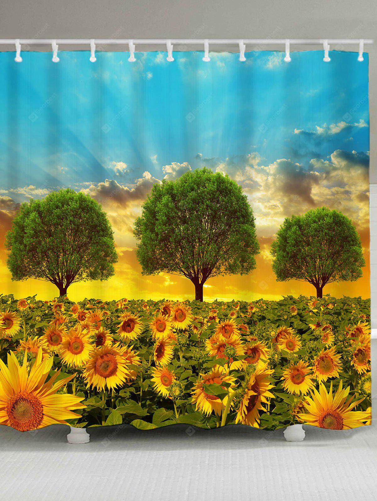 Morning Sunflowers Pattern Shower Curtain