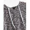 Hooded Heathered Long Sleeve Top - COLORMIX