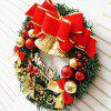 Home Decorations 30CM Bells Merry Christmas Wreath - RED