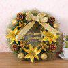 Home Decorations 40CM Floral Bowknot Christmas Wreath - GOLDEN