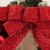 Festival Home Decorations Bowknot Balls Gifts Christmas Wreath - RED