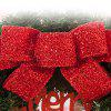 Home Decorations Bowknot Balls Merry Christmas Wreath - RED