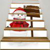 DIY Lovely Christmas Snowman Pattern Decorative Stair Stickers - COLORFUL