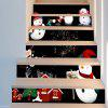 Removable Christmas Snowmen DIY Stair Stickers - COLORFUL