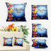 Christmas Ornaments Double Sided Printed Throw Pillowcase - BLUE