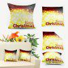 Christmas Time Double Sided Printing Decorative Pillow Case - GOLDEN