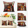 Christmas Elements Double Sided Printed Decorative Pillow Case - BROWN