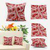 Candy Canes Double Sided Printed Christmas Decorative Pillowcase - RED AND WHITE