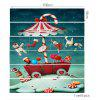 Christmas Candy Snail Printed Decorative Stair Stickers - COLORFUL