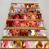 Christmas Balls Printed Decorative Stair Stickers - COLORFUL