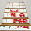 Red Reindeer and Wood Grain Pattern Decorative Stair Stickers - COLORFUL